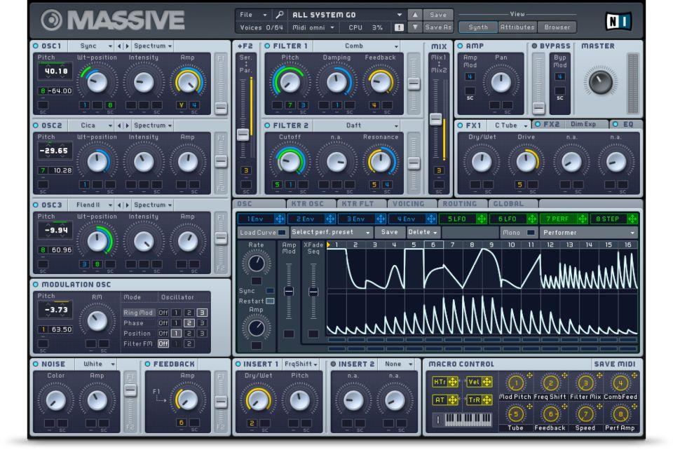 Massive, Native Instruments, MAO, Sound Design, Oscillator, Filter, Plugin, VST, Synth